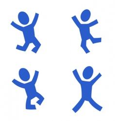 jumping figures vector image