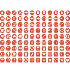 Orange icons vector image
