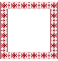 Ornament square vector image