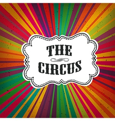 circus retro rays vector image