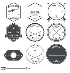 Set of vintage hunt icons emblems and labels vector
