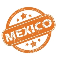 Mexico round stamp vector