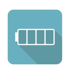 Square empty battery icon vector