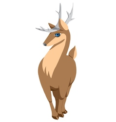 Deer with big eyes vector