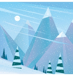 Empty ski slope at noon vector