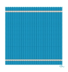 Knitted seamless blue background vector