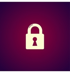 Lock icon flat design style vector