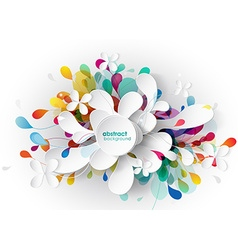 Abstract background with paper flower vector image vector image