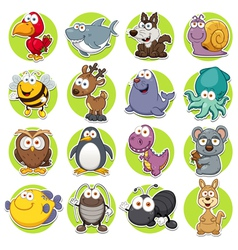 Animals set vector image vector image