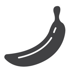 banana solid icon fruit and diet graphics vector image vector image
