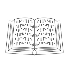 Book written in braille icon in outline style vector