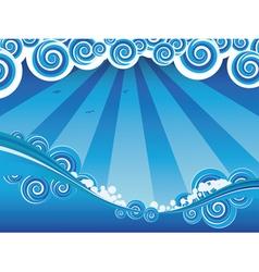Cartoon stormy sea6 vector