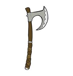 Comic cartoon viking axe vector