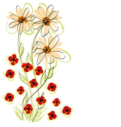 flowers hand made vector image
