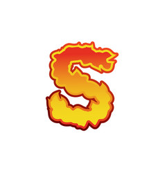 Letter s fire flames font lettering tattoo vector