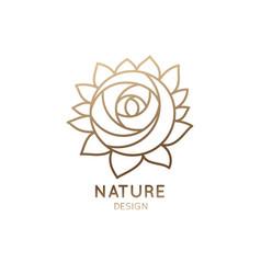 logo rose vector image vector image