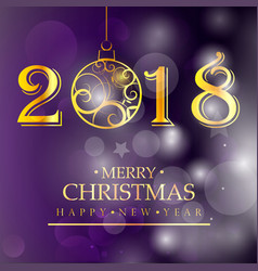 merry christmas purple background christmas vector image