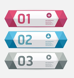 Modern Design template numbered banners vector image
