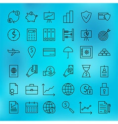 Money finance banking and marketing line big icons vector