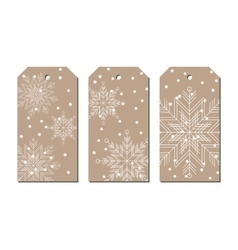 New year and Christmas craft paper color tags with vector image vector image