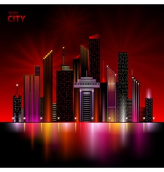 night city vector image