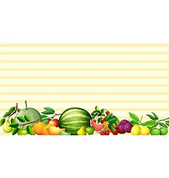 Paper design with fresh fruits vector