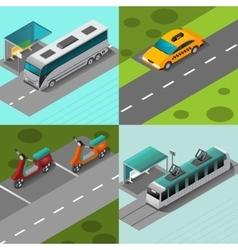 Public Transport Set vector image