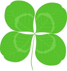 Quatrefoil leaf clover sign icon good luck or vector
