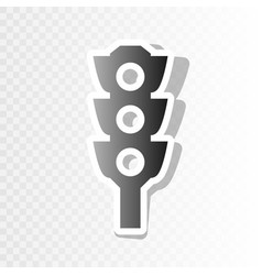Traffic light sign new year blackish icon vector