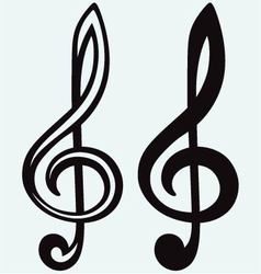 Treble clef sign vector image vector image