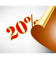Twenty percent discount coupon vector
