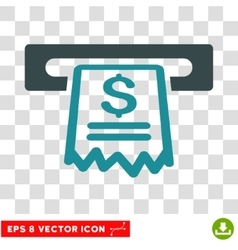 Cashier receipt icon vector