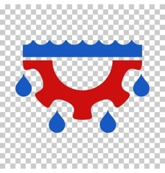 Water gear drops icon vector