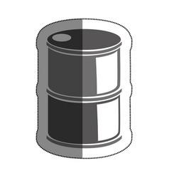 Tank barrel isolated icon vector
