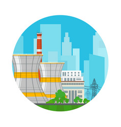 Icon nuclear power plant vector