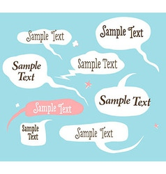 Collection of hand draw speech bubbles vector