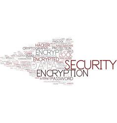 Encrypt word cloud concept vector
