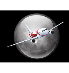 The moon and plane vector