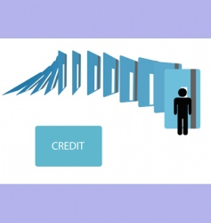 credit card debt vector image