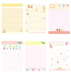 Paper Notebook pink and yellow style vector image