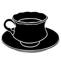teacup silhouette vector image