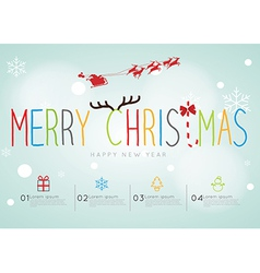 Merry christmas infographic vector