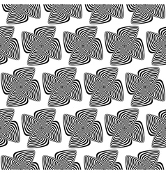 Design seamless monochrome whirlpool background vector
