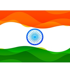 Indian flag made in simple wave style with vector