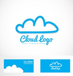 Blue cloud hosting logo vector
