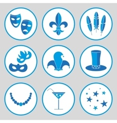 Carnival icon set vector