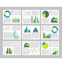 Graphs flat concept vector