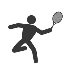 Tennis racket and pictogram icon sport concept vector