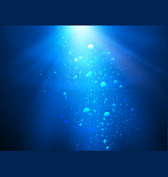 abstract blue water background with sunbeams vector image