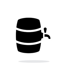 Beer barrel simple icon on white background vector image vector image